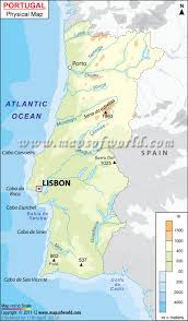 Physiographic Map Of The United States by Portugal Physical Map Physical Map Of Portugal