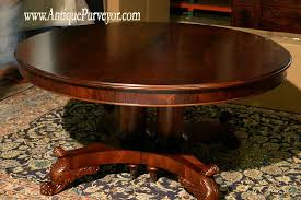 Round Mahogany Dining Room Table With Leaves  Round Dining - Mahogany dining room sets