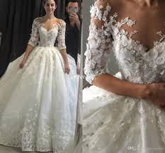 ballgown wedding dresses steven khalil gown wedding dresses with half sleeve 3d floral