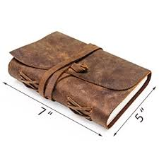 leather journal vintage writing scrapbook