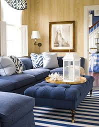 Navy Sectional Sofa Navy Sectional Transitional Living Room Erin Gates Design