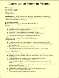 construction resume template construction foreman resume template for microsoft word