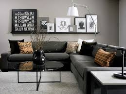 grey and blue living room ideas brown sofa fur rug brown fur rug