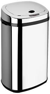 poubelles de cuisine automatique dihl poubelle automatique rectangulaire chromé 30 l amazon fr
