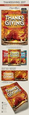 thanksgiving 2017 flyer psd template cover by