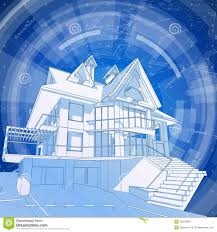 3d house blueprint stock images image 6732614