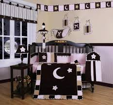 boutique girls bedding geenny pink brown moon u0026 star 13pcs crib bedding set