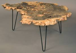 Hairpin Legs Los Angeles by Buckeye Burl Wood Coffee Table With Hairpin Legs At 1stdibs