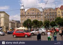 beautiful old architecture in city center on soborna street of