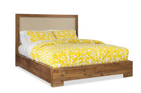Low Profile Furniture by King Upholstered Low Profile Bed W Storage By Cresent Fine
