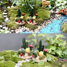 fairy garden statues resin cactus miniature fairy garden dollhouse decor