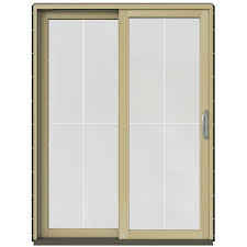 Patio French Doors With Built In Blinds by Wood Patio Doors Exterior Doors The Home Depot
