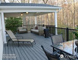 this modern oasis showcases trex island mist decking with an
