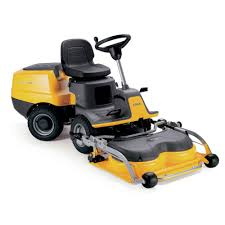 stiga sit on lawnmowers with out front decks