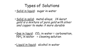 chapter 12 solutions review types of mixtures heterogeneous