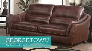 Next Leather Sofas by Georgetown Top Grain Leather Sofa Video Gallery