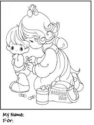 coloring pages precious moments coloring book helping sister