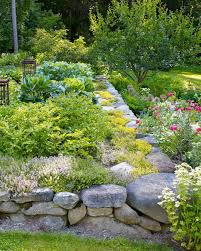 Raised Rock Garden by Garden Tour New Hampshire Garden Martha Stewart