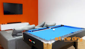basement games room conversion stone dry bespoke basement