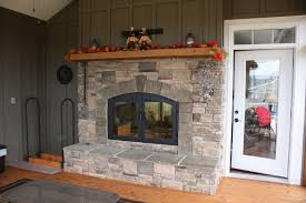 Unique And Beautiful Stone Fireplace by Indoor Outdoor Wood Fireplace See Thru Fireplaces Acucraft