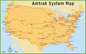 Chicago To Atlanta Map by Amtrak System Map