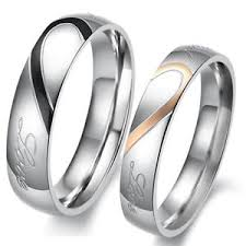 comfort fit ring heart stainless steel comfort fit wedding bands
