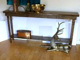Diy Console Table Plans Diy Rustic Console Table U2013 Launchwith Me