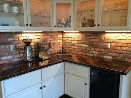 brick backsplash in kitchen extraordinary thin brick backsplash kitchen backsplashes rustic