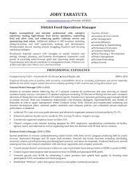 Sample Photography Resume by District Manager Resume Berathen Com