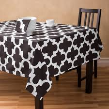dining room decorations ideas inspiring black tablecloth for