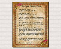 wedding blessing words apache wedding blessing etsy