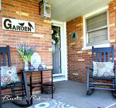 patio decorated for spring season rustic u0026 refined