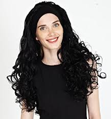 hair attached headbands uk premium quality x long layered jet black number 1 ladies curly