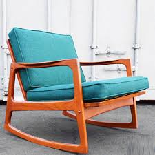 mid century møbler danish modern teak rocking chair fab