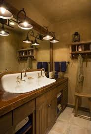 bathroom vanity top ideas rustic pine bathroom vanities brown marble tiles floor wine barrel