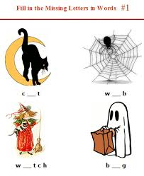 halloween spelling worksheets for kindergarten and first grade