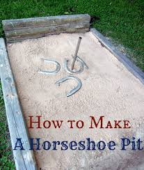 Horseshoe Fire Pit by How To Build A Horseshoe Pit
