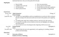 stunning examples of resumes for a job photos podhelp info