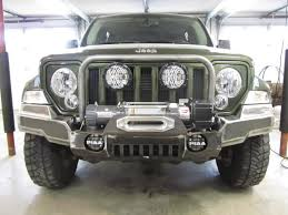 jeep liberty front bumper mtnluvr s declassified off road bumpers and rock sliders jeep