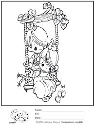 kids coloring page boy swing precious moments coloring sheet
