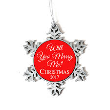 will you marry me christmas ornament personalized proposal