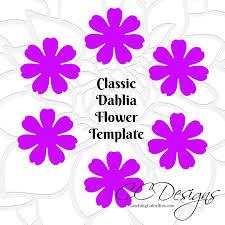 paper flower template paper flower tutorial diy paper flower
