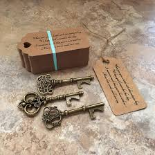 key bottle opener wedding favors skeleton key bottle openers poem thank you tags wedding