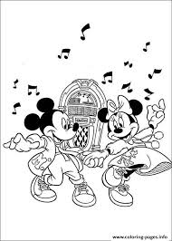 minnie mickey dancing song disney fb86 coloring pages