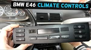bmw e46 climate control ac a c heater control button removal