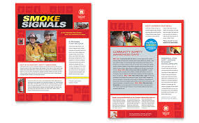 fire safety newsletter template word u0026 publisher