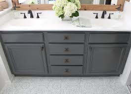 how to restain bathroom cabinets remodelaholic how to achieve a