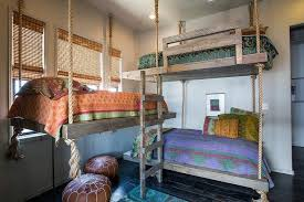 Hanging Rope Beds Design Ideas - Suspended bunk beds