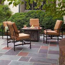 Patio And Firepit Hton Bay Pit Sets Outdoor Lounge Furniture The Home