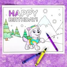 happy birthday paw patrol coloring page paw patrol birthday party nickelodeon parents